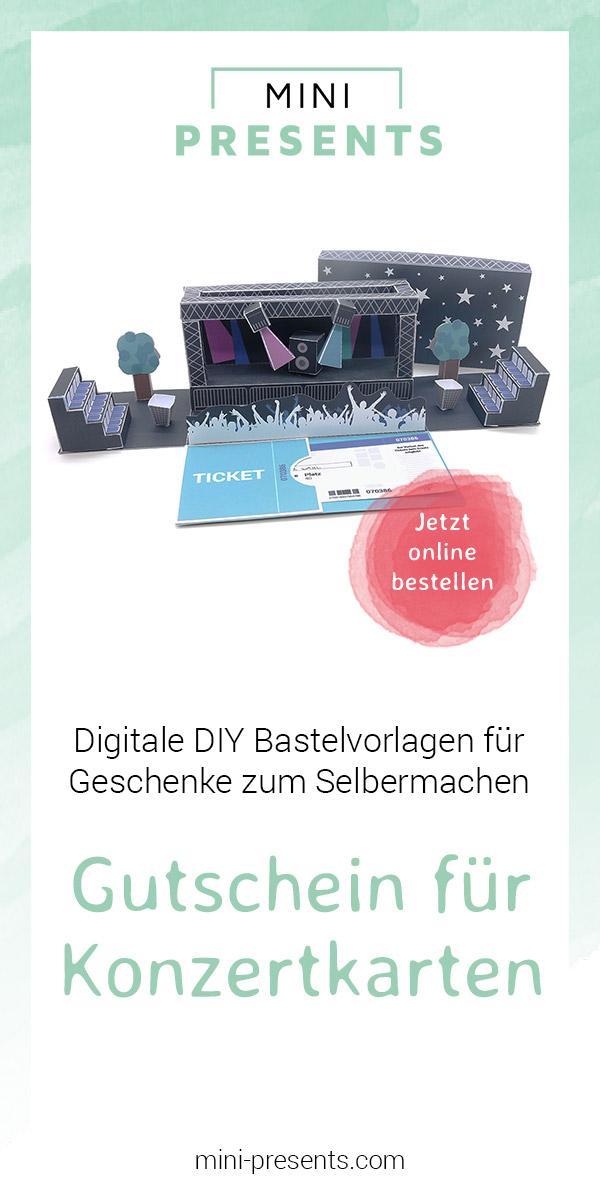 Mini Presents Onlineshop Liveinconcert Diy Geschenkgutschein Für