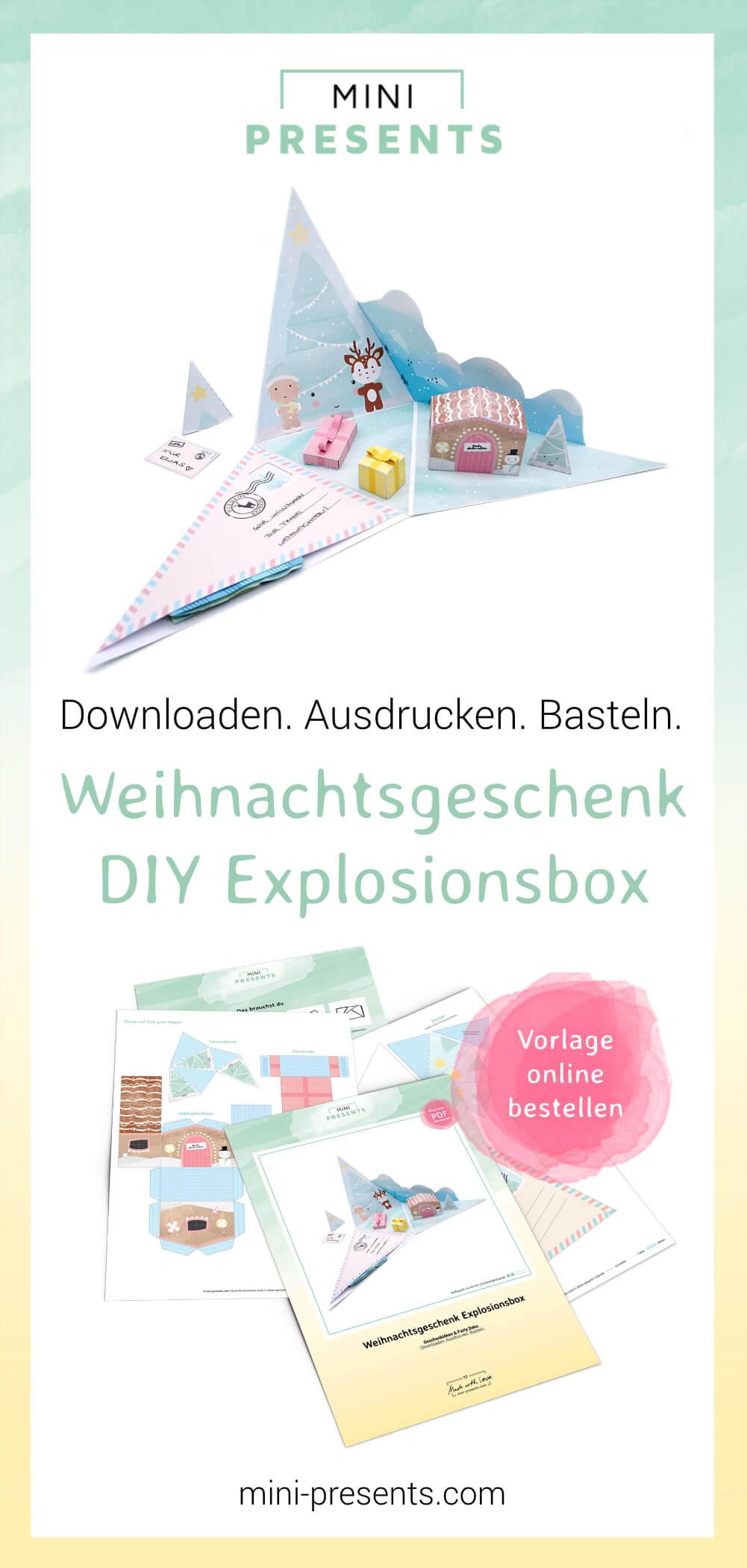 Mini Presents Weihnachtsgeschenk Explosionsbox Als