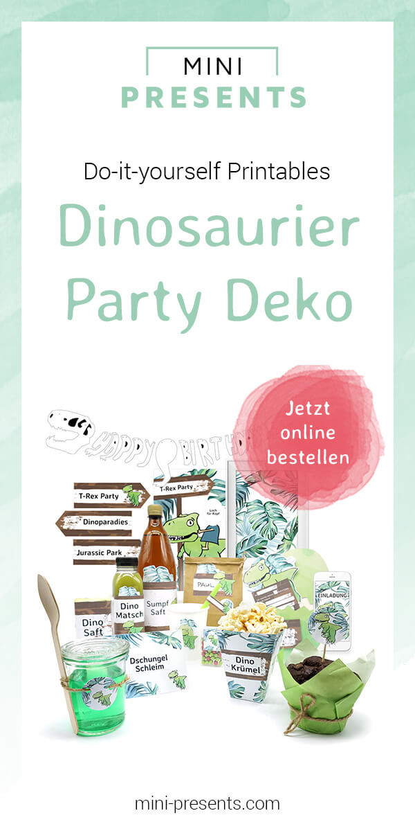 mini-presents Onlineshop | Do-it-yourself Dinosaurier Party ...