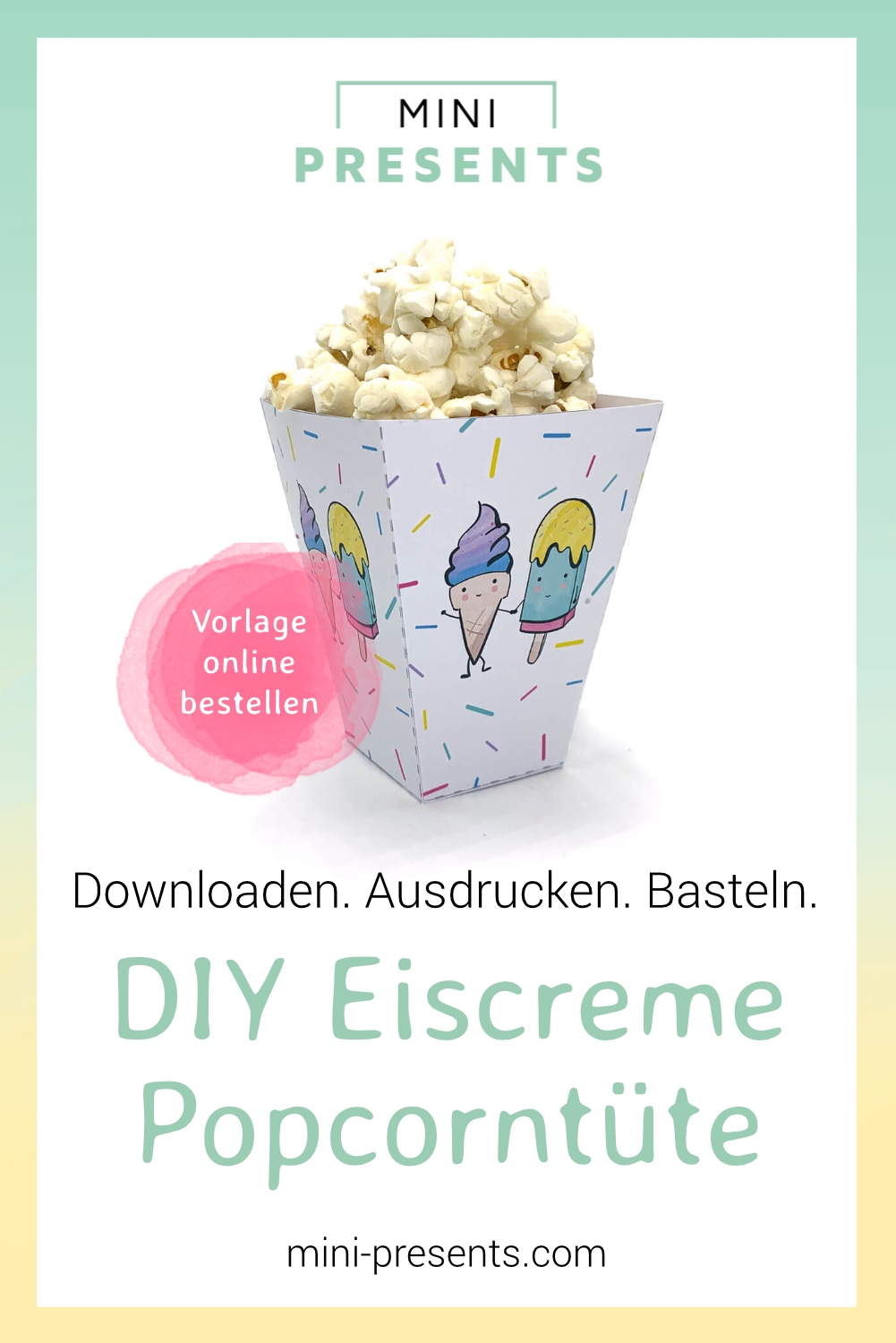 picture about Popcorn Bag Printable named mini-delivers Onlineshop Ice product popcorn baggage for the