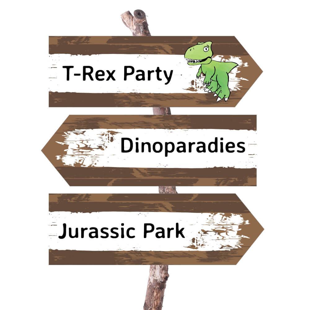 Dino Wegweiser Do It Yourself Dinosaurier Party