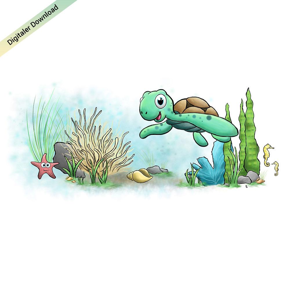 Unterwasser Bild fürs Kinderzimmer in 250cm x 100cm