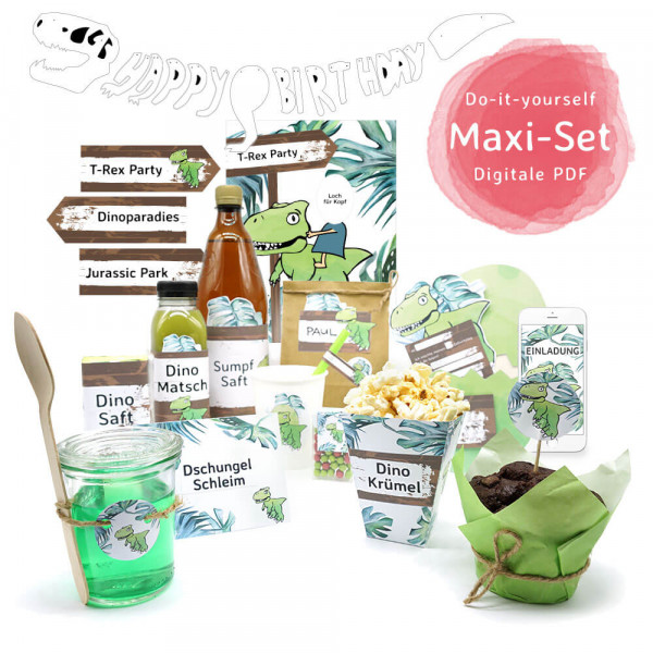 "Do-it-yourself Dinosaurier Party Dekoration ""Maxi-Set"""