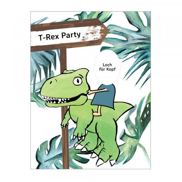 Dinosaur photo wall party decoration