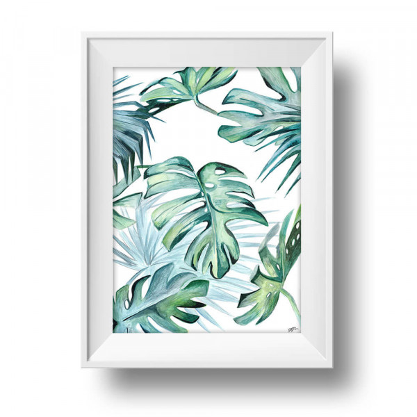 Tropical wall art for your home in 30 x 40 cm