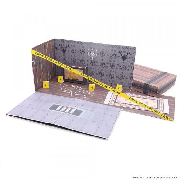 Do-it-yourself Escape Room Geschenkbox als Gutschein ausdrucken & basteln