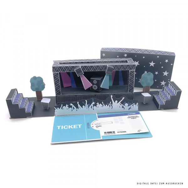 Gutschein für Konzertkarten als Geschenk ausdrucken & basteln