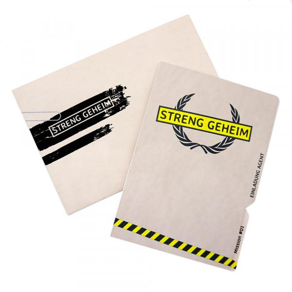 DIY Einladungskarte Detektivparty oder Krimidinner