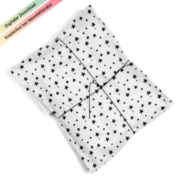 Geschenkpapier mit Sternen zum Ausdrucken