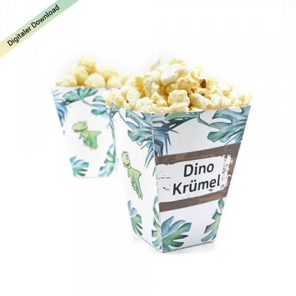 Dino Popcorntüten Do-it-yourself Dinosaurier Party