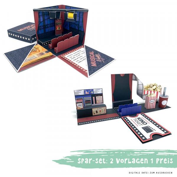 Spar-Set: Kino Gutschein & Musical Geschenkbox zum Ausdrucken