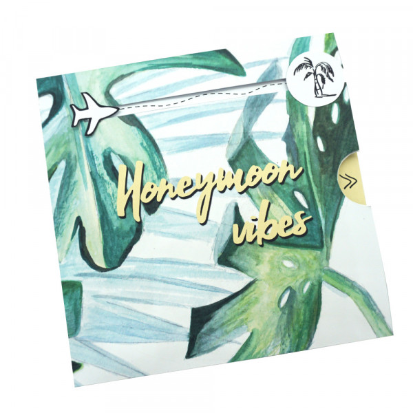 """honeymoon"" DIY money gift card to the wedding"