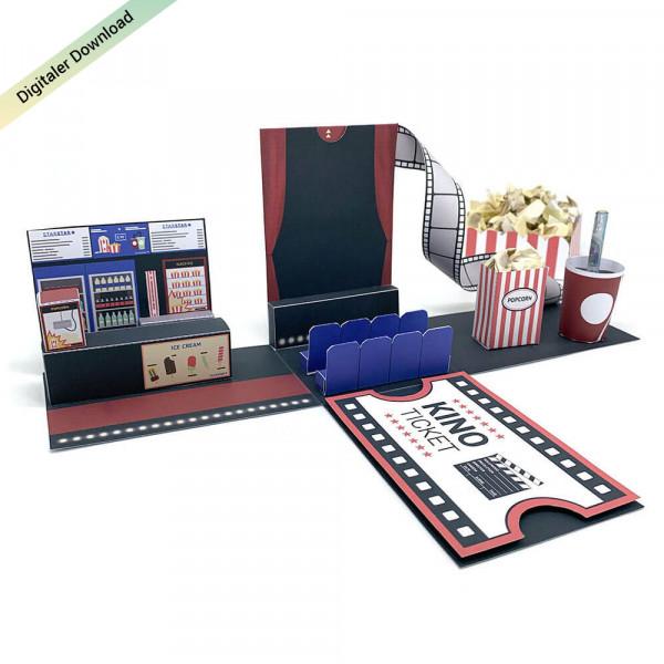 Kinogutschein Explosionsbox ausdrucken & basteln